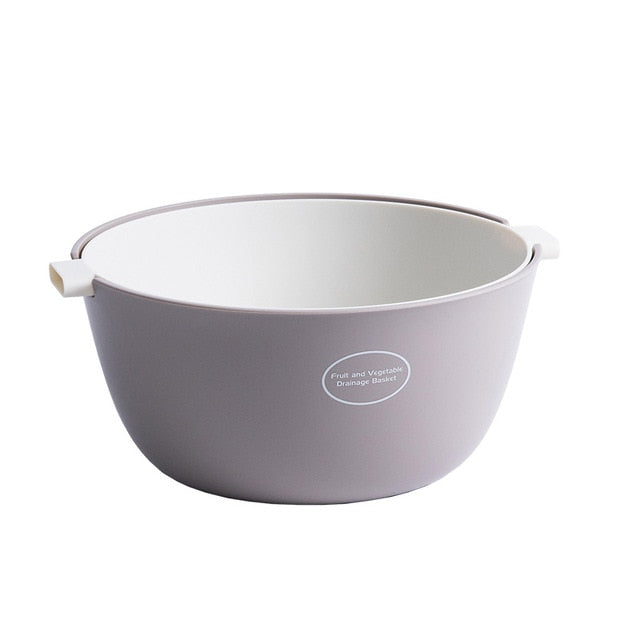 Small double layer colander - color gray/white