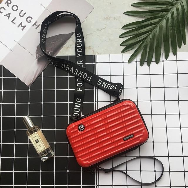 Mini Suitcase Shaped Crossbody Handbag & Clutch-Atomic Tomato Red