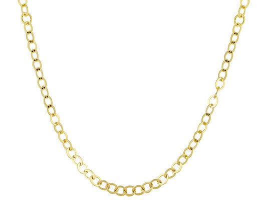 Circle Link 18k Yellow Gold Over Bronze Necklace.