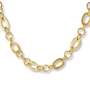 Link Necklace Bronze/14K Gold Plated