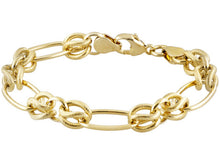 Load image into Gallery viewer, Oval and Twisted link Gold over Bronze Bracelet