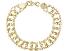 Load image into Gallery viewer, Oval link Gold over Bronze Bracelet