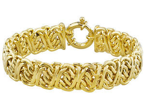 Arezzo Byzantine Link 18k Yellow Gold Over Bronze Bracelet