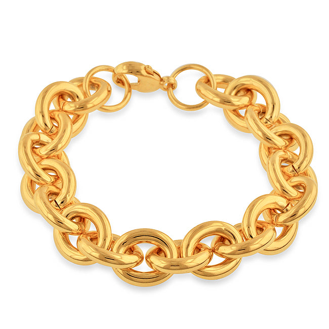 Gold Over Bronze Rolo Bracelet