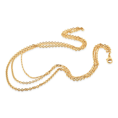 Multi-strand 18K Gold over Bronze necklace