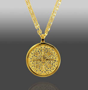The Greek Medallion Pendant Necklace