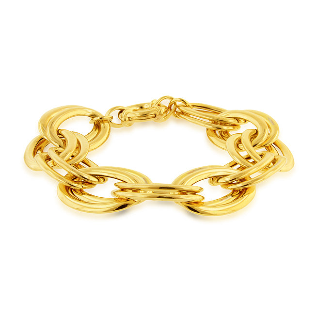 Large Double Oval Link Bracelet