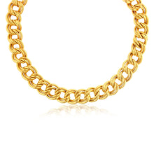 Load image into Gallery viewer, Linear Garibaldi Double Link 18k Yellow Gold Over Bronze Bracelet
