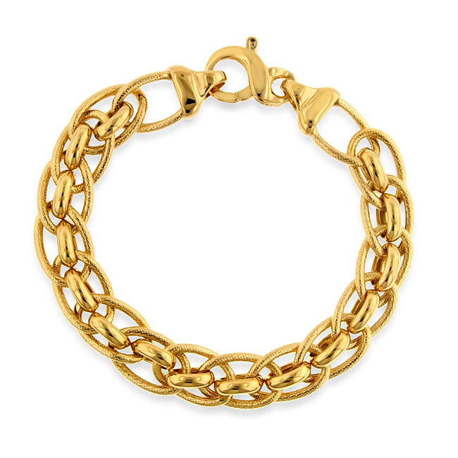 Double Oval Links Bracelet