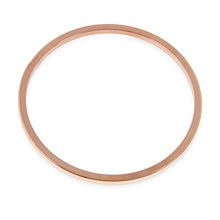 Load image into Gallery viewer, Rose Gold over Bronze Bangle Bracelet