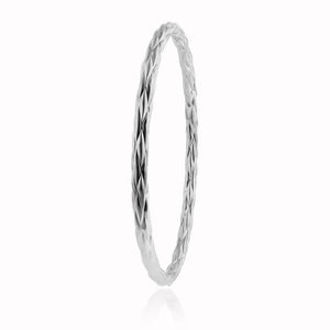 EuroPlatinum Quilted Bangle - 7.5""