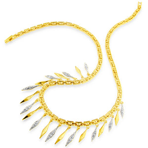 Cleopatra Necklace with diamonds