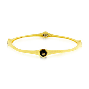 3.20 Carat tw Smoky Topaz Bamboo Bangle in Gold over Bronze
