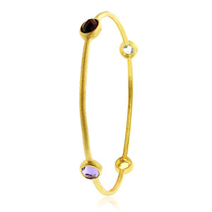 4.00 Carat tw Multi-Gemstone Bangle in Gold over Bronze