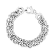 Load image into Gallery viewer, EuroPlatinum Double Link Bracelet - 7.5""