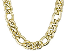Load image into Gallery viewer, Figaro Design 18k Yellow Gold Over Bronze Necklace.
