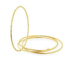 Load image into Gallery viewer, Set of 4 Bangle Bracelets in 18K Yellow Gold Plated Sterling Silver