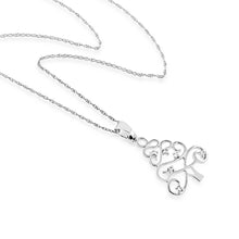 Load image into Gallery viewer, White Sapphire Christmas Tree Necklace in Sterling Silver