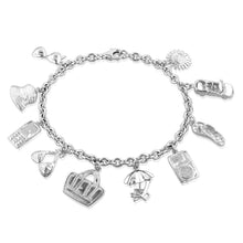 Load image into Gallery viewer, Sterling Silver Designer Summer Madness Charm Bracelet