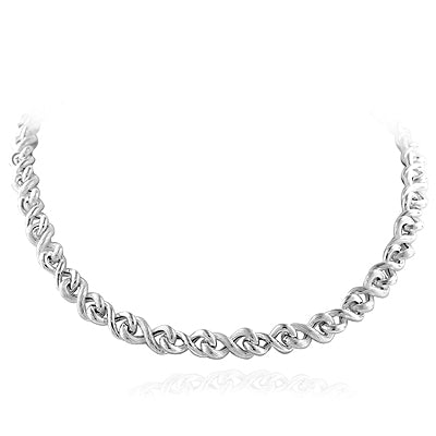 Sterling Silver Twisted Link Necklace