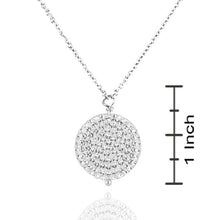 "Load image into Gallery viewer, Sterling Silver Round Swarovski Pendant w/ 18"" chain"