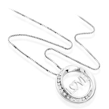 "Load image into Gallery viewer, Sterling Silver & Diamond Circle of Love Pendant with 18"" Chain"