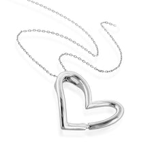 Load image into Gallery viewer, Designer Diamond Heart Pendant in Sterling Silver