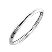 Load image into Gallery viewer, 0.12ct TDW Diamond Fashion Bangle Bracelet in Sterling Silver -7.75""