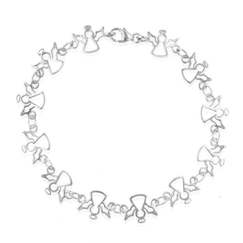 Sterling Silver Dancing Angels Bracelet