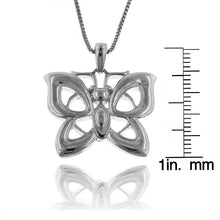 Load image into Gallery viewer, Sterling Silver Rhodium Butterfly Pendant