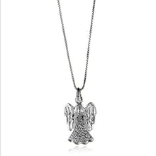 Load image into Gallery viewer, Sterling Silver Diamond Angel Pendant w/18 in Chain