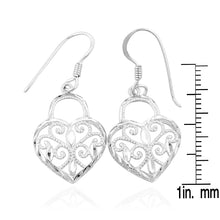 Load image into Gallery viewer, Sterling Silver Heart Key Bracelet with Matching Earrings and Pendant