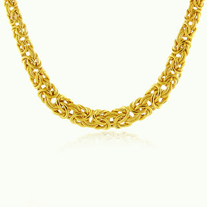 Byzantine Necklace in Gold Plated Sterling Silver