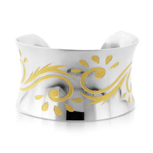 Load image into Gallery viewer, Designer two tone wide Bangle