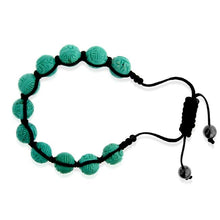 Load image into Gallery viewer, Engraved Turquoise Bead Shamballa Bracelet