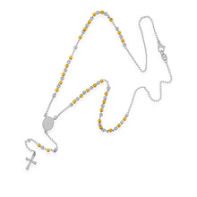 Load image into Gallery viewer, Cross Rosary Steel Necklace