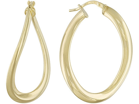 Twisted Hoop Earrings set in Gold over Bronze