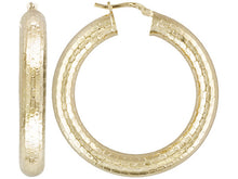 Load image into Gallery viewer, Snake Skin Design 18k Yellow Gold Over Bronze Hoop Earrings