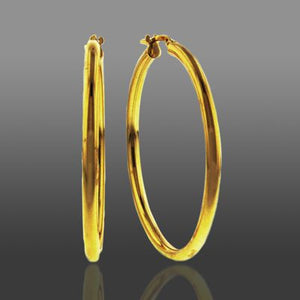 Baby Bangle Hoop Earrings set in Gold over Bronze