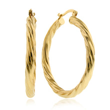 Load image into Gallery viewer, Italia Twisted Hoop Earrings - 4x33mm