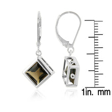Load image into Gallery viewer, 3.00 Carat Smokey Quartz Earrings in Sterling Silver