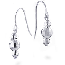 Load image into Gallery viewer, Sterling Silver Faceted 3-Ball Drop Earrings