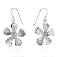 Load image into Gallery viewer, Sterling Silver Flower Dangle Earrings