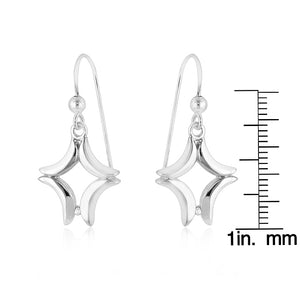 Sterling Silver Diamond Star Earrings