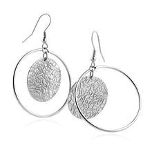 Load image into Gallery viewer, Stainless Steel Textured Dangle Earrings