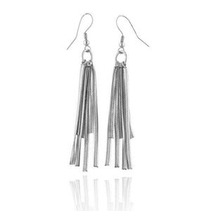 Stainless Steel Chain Dangle Earrings
