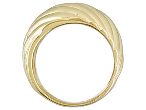 Wave Design 18k Yellow Gold Over Bronze Ring