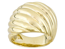 Load image into Gallery viewer, Wave Design 18k Yellow Gold Over Bronze Ring