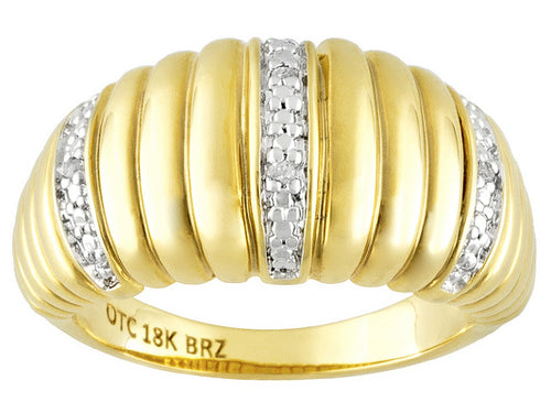 Diamond Accent 18k Yellow Gold Over Bronze Ring