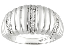 Load image into Gallery viewer, Diamond Accent Rhodium Plating Over Bronze Ring